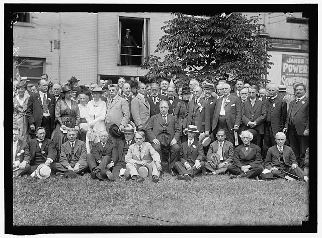LEAGUE TO ENFORCE PEACE. GROUP. WILLIAM H. TAFT IN CENTER