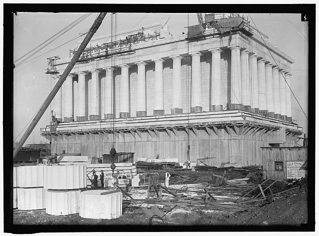LINCOLN MEMORIAL. UNDER CONSTRUCTION