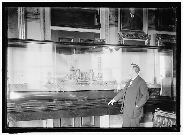 DANIELS, JOSEPHUS. SECRETARY OF THE NAVY, 1913-1921. WITH MODEL OF U.S.S. NEW YORK