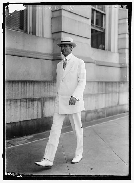 McADOO, WILLIAM GIBBS. SECRETARY OF THE TREASURY, 1913-1921