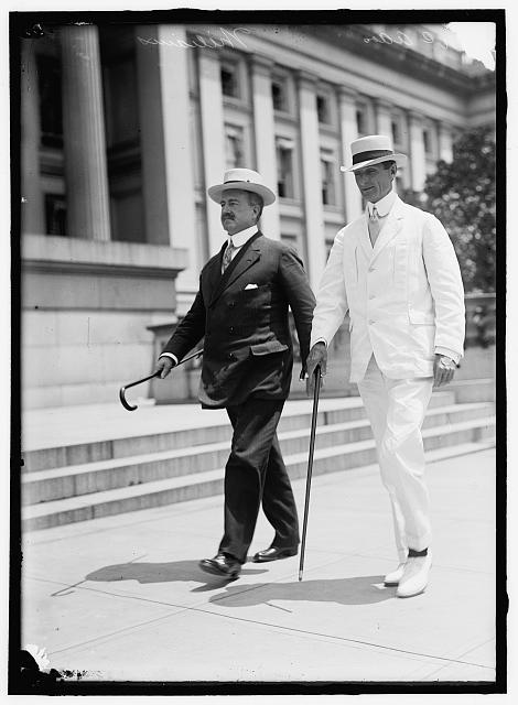 McADOO, WILLIAM GIBBS. SECRETARY OF THE TREASURY, 1913-1921. RIGHT, WITH JNO. SKELTON WILLIAMS