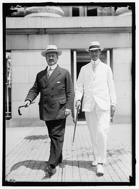McADOO, WILLIAM GIBBS. SECRETARY OF THE TREASURY, 1913-1921. RIGHT, WITH JNO. SKELTON WILLIAMS