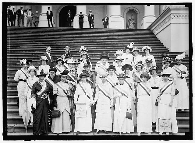 WOMAN SUFFRAGE. SUFFRAGETTES AT CAPITOL