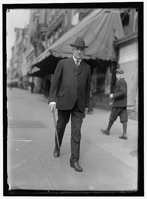 HARDING, WARREN GAMALIEL. SENATOR FROM OHIO, 1915-1921. PRESIDENT OF THE UNITED STATES, 1921-1923