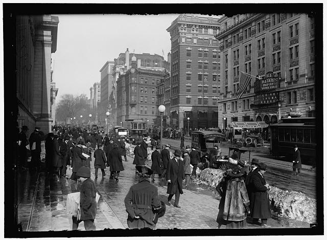 [Street scene near Keith's Theater, Washington, D.C.]