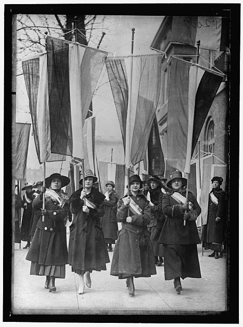 [WOMAN SUFFRAGE PICKET PARADE]