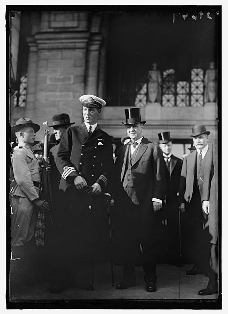 DANIELS, JOSEPHUS. SECRETARY OF THE NAVY, 1913-1921. WITH PRINCE ALEX OF DENMARK