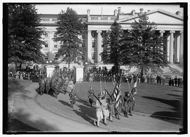 FRENCH LEGIONNAIRES. ENTERING WHITE HOUSE GROUNDS