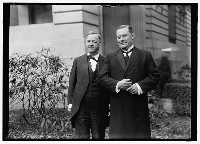 DANIELS, JOSEPHUS. SECRETARY OF THE NAVY, 1913-1921. DANIELS AND GEDDES