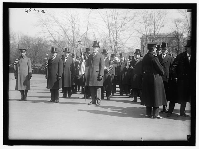 PARADES. WELCOME HOME PARADE FOR PRESIDENT WILSON; HARPER, ROBERT N., D.C. BANKER; GUDE, WILLIAM F., OF D.C.