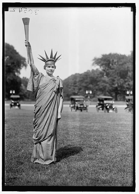 FOURTH OF JULY. TABLEAU ON ELLIPSE: 'LIBERTY,' 'COLUMBIA,' AND DANCERS