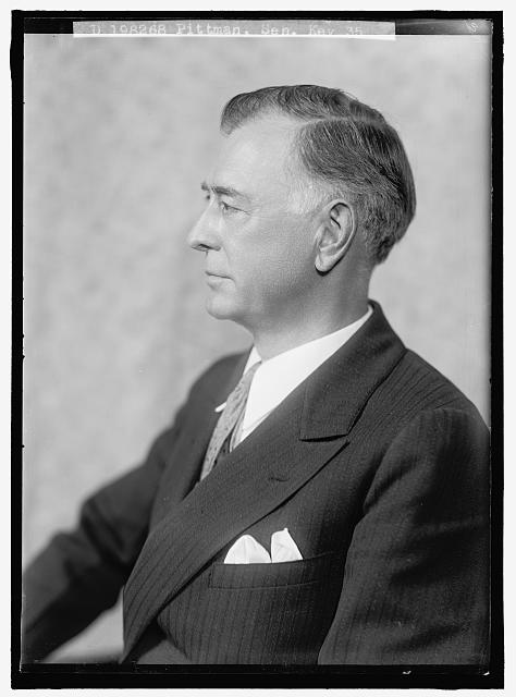 PITMAN, KEY. SENATOR. PORTRAIT