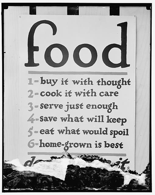 Food Administration poster