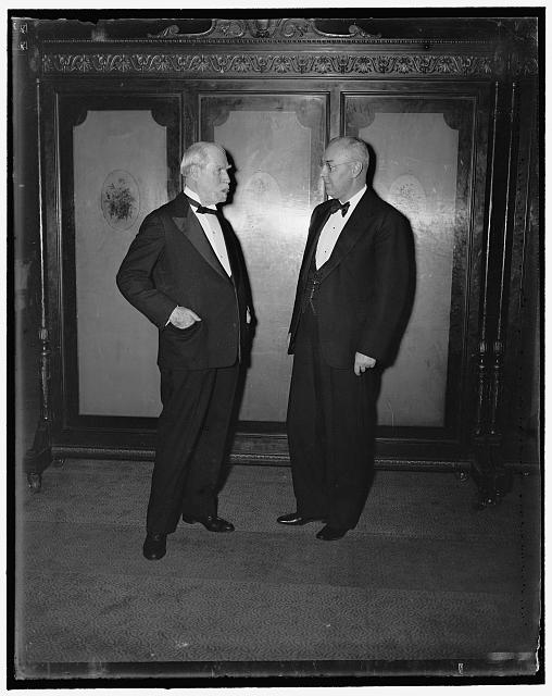 Chief Justice Hughes. Washington, D.C., March 15th. A new informal photograph of the Chief Justice of the Supreme Court Charles Evans Hughes, snapped while attending the Alumni dinner of Brown Univ. Hughes graduated from Brown in 1881