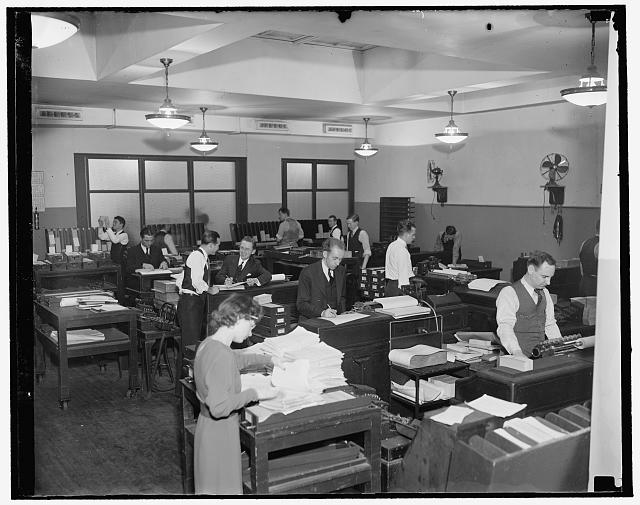 Tabulating machines at F.H.A.