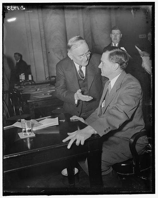 Wm. Green, Pres. of A.F. of L. & Justin Miller, appearing before Senate Judiciary Committee