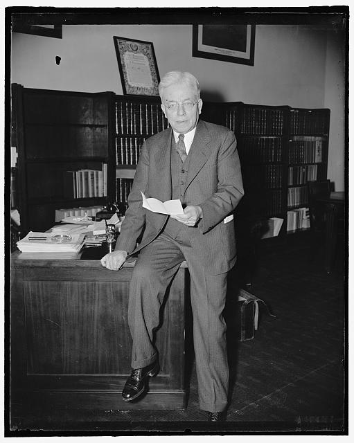 Maine Representative. Washington, D.C., April 10. A new informal picture of Rep. Clyde Smith, republican of Maine. 4-10- 39