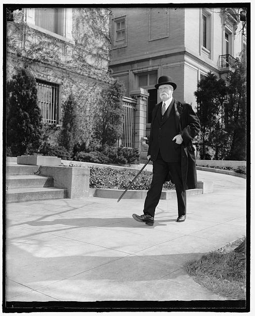 Chief Justice. Washington, D.C., April 12. A Brisk walk daily is the regular routine of Chief Justice Charles Evans Hughes of the Supreme Court. This is a new photograph. 4-12-39
