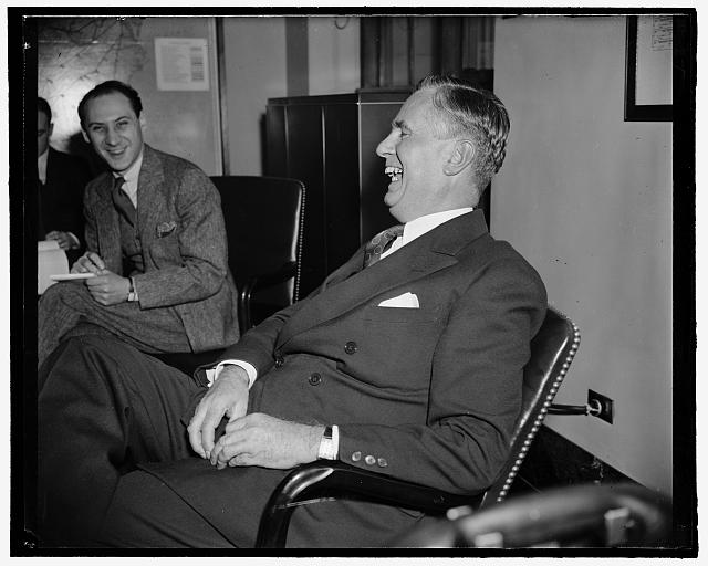 New assistant to Hopkins. Washington, D.C., April 13. Edward J. Noble, recently named Assistant to Secretary of Commerce Hopkins, was in rare humor as he held his first press conference today. 4-13-39