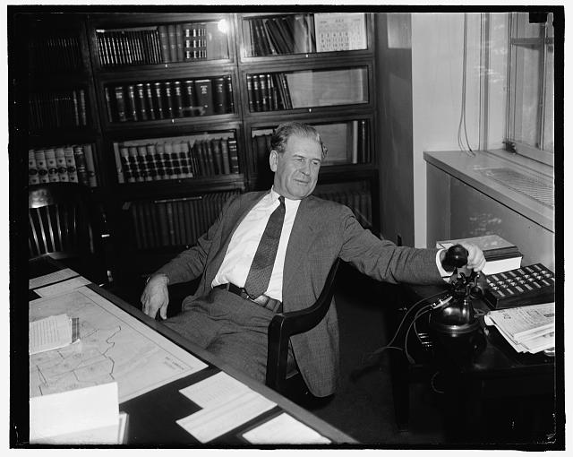 Roosevelt appointment. Washington, D.C., July 22. Late informal photo of Mr. William J. Patterson, present Director of Interstate Commerce Commission's Bureau of Safety and Former Railroad man. He was appointed to the Interstate Commerce Commission seat left vacant by the resignation of B.H. Meyer and to the post to which Mr. Roosevelt originally appointed Thomas R. Amilie, whose confirmation was blocked. Patterson's appointment appears due for speedy confirmation, 7/22/39