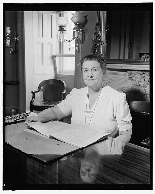 Congresswoman from New Jersey. Washington, D.C., July 26. A new informal picture of Rep. Mary T. Norton, Democratic member of Congress from New Jersey, 7/26/39