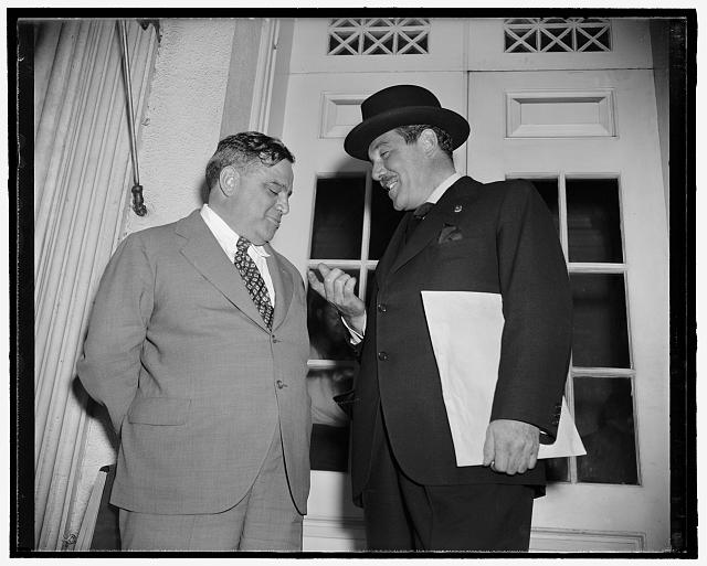 [Fiorello La Guardia, left. White House, Washington, D.C.]