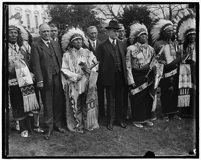 Coolidge w/Indians