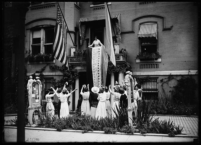 [In front of National Woman's Party headquarters, Washington, D.C.]