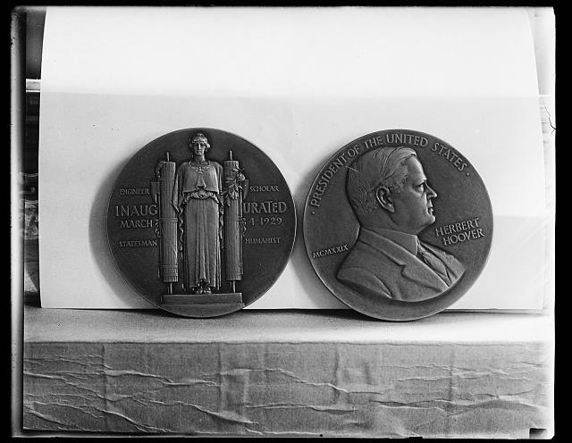 Presidential Medal of Hoover placed on sale. Following the custom of other administrations a President Hoover medal has just been struck off by a Philadelphia Mint and is shortly to on sale to the public