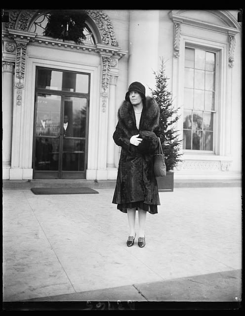 Mrs. Longworth. Mrs. Nicholas Longworth, snapped at the White House as she left the New Year Day reception