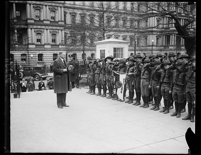 Pres. Hoover receives Boy Scouts from Kingston, PA, 1/8/30