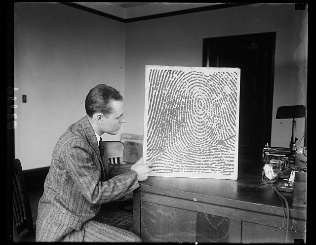Fingerprint met hard on crooks. It is possible, according to E.K. Thode, chief of the National Division of Identification and Information, to reconstruct a fingerprint with positive accuracy from a verbal description received by telephone or telegraph. Mr. Thode's division works under the jurisdiction of the Bureau of the United States Department of Justice
