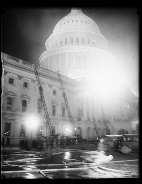 [Firetrucks at U.S. Capitol, Washington, D.C.]