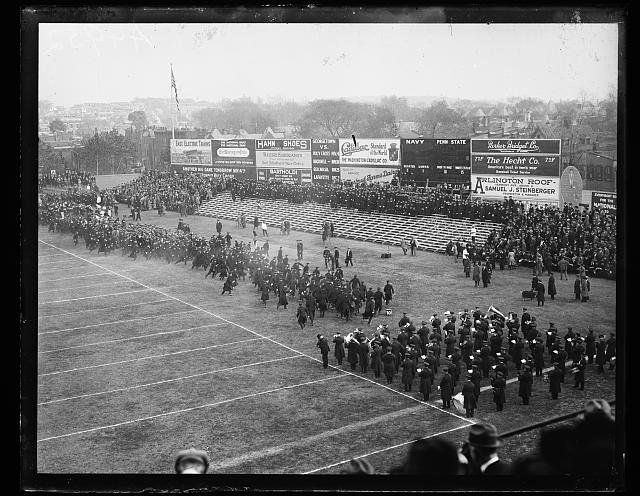 [Crowd at field, Navy Penn State football game]