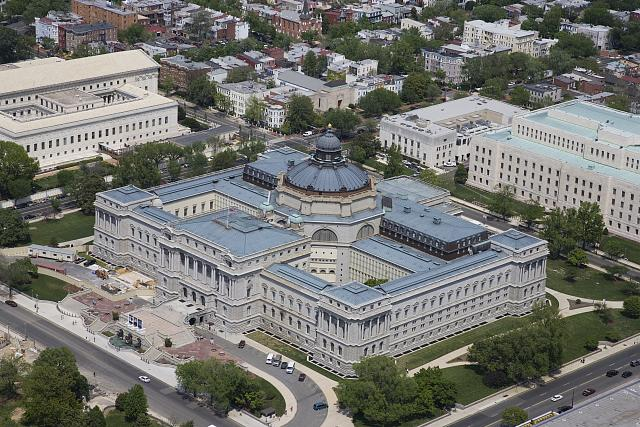 [Aerial view from the southwest of the Library of Congress Thomas Jefferson Building, Washington, D.C.]