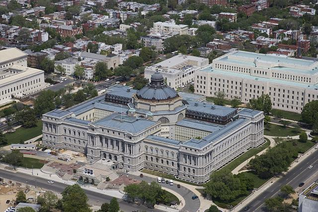 [Aerial view from the southwest of the. Library of Congress Thomas Jefferson Building, Washington, D.C.]