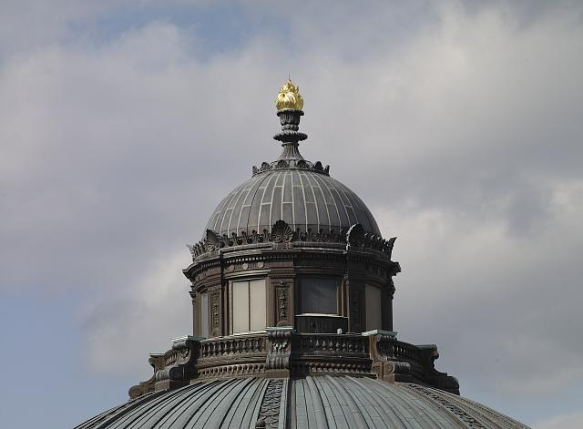 [Exterior view. Cupola and Torch of Learning. Library of Congress Thomas Jefferson Building, Washington, D.C.]