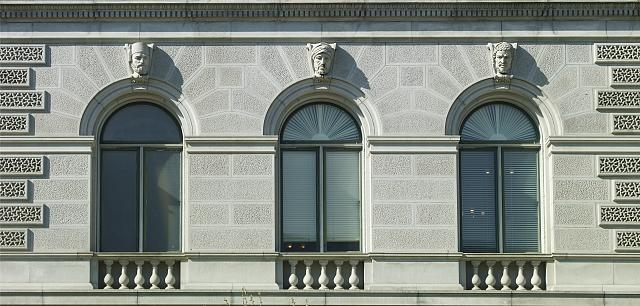 "[Exterior view. Ethnological heads called ""Turk,"" ""Modern Egyptian (Hamite),"" and ""Abyssinian."" Library of Congress Thomas Jefferson Building, Washington, D.C.]"