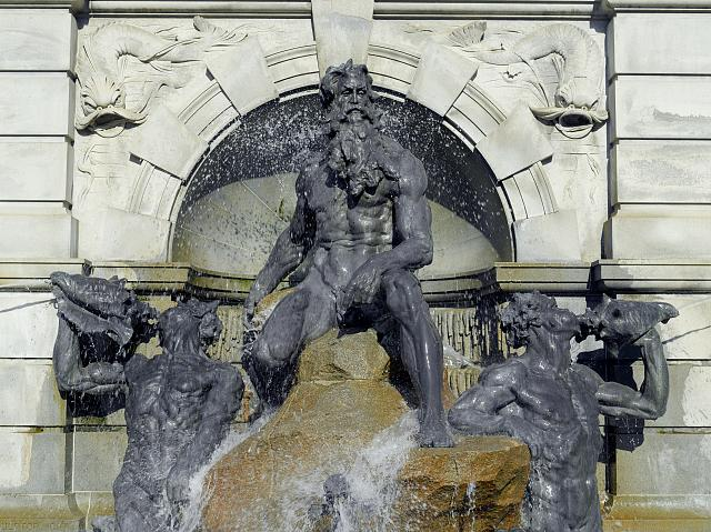 [Exterior view. Detail of Neptune statue in Neptune Fountain by Roland Hinton Perry. Library of Congress Thomas Jefferson Building, Washington, D.C.]