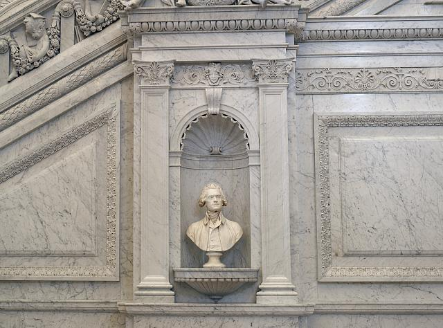 [Great Hall. Bust of Thomas Jefferson. Library of Congress Thomas Jefferson Building, Washington, D.C.]