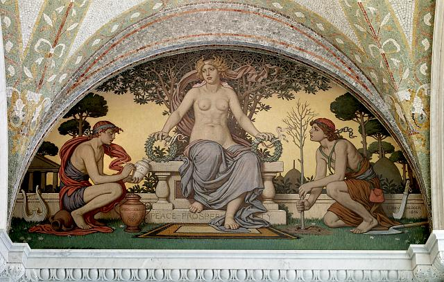 Lobby To Main Reading Room Peace And Prosperity Mural By