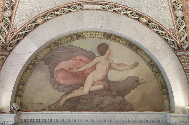 [South Corridor, Great Hall. Ganymede mural of the Lyric Poetry series by Henry O. Walker. Library of Congress Thomas Jefferson Building, Washington, D.C.]