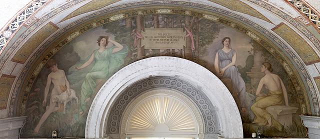 [South Corridor, Great Hall. Mural in arched panel by Henry O. Walker. Library of Congress Thomas Jefferson Building, Washington, D.C.]