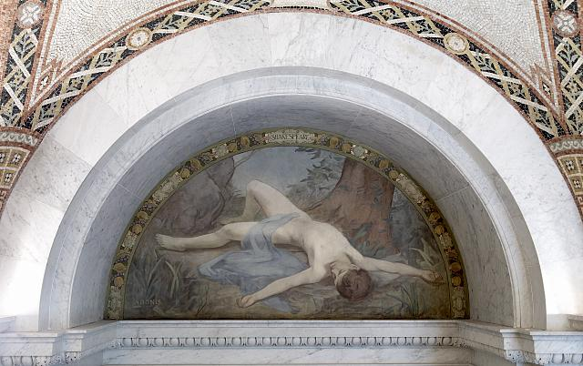 [South Corridor, Great Hall. Adonis mural of the Lyric Poetry series by Henry O. Walker. Library of Congress Thomas Jefferson Building, Washington, D.C.]