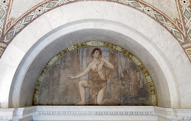 [South Corridor, Great Hall. Comus mural of the Lyric Poetry series by Henry O. Walker. Library of Congress Thomas Jefferson Building, Washington, D.C.]