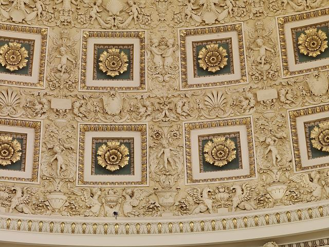 [Main Reading Room. Detail of rosettes and plasterwork in dome. Library of Congress Thomas Jefferson Building, Washington, D.C.]