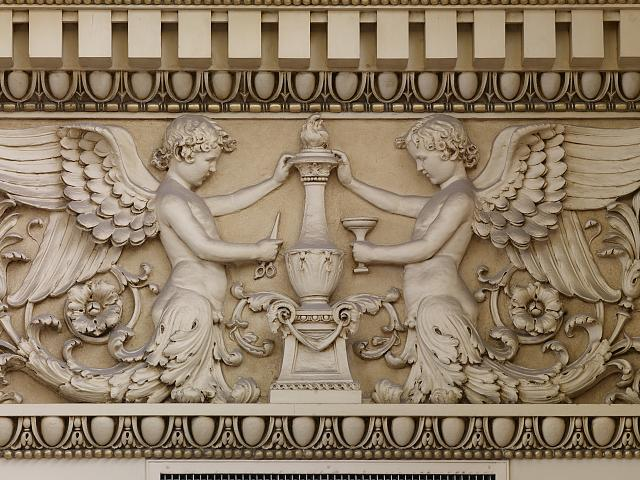[Main Reading Room. Detail of frieze of winged half figures with torch of learning. Library of Congress Thomas Jefferson Building, Washington, D.C.]