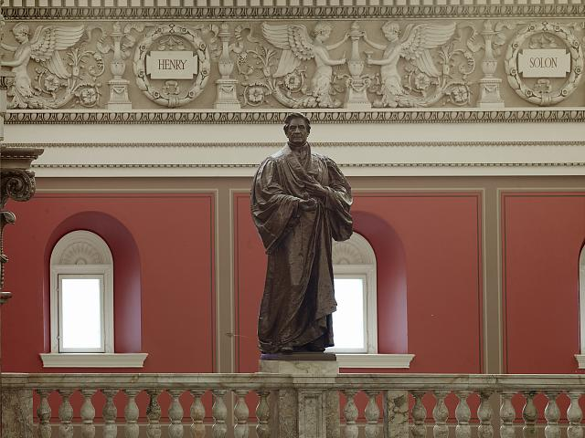 [Main Reading Room. Portrait statue of Henry along the balustrade. Library of Congress Thomas Jefferson Building, Washington, D.C.]