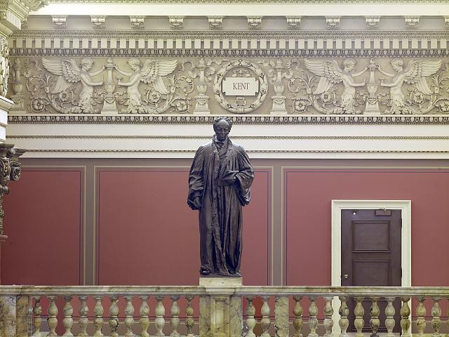 [Main Reading Room. Portrait statue of Kent along the balustrade. Library of Congress Thomas Jefferson Building, Washington, D.C.]