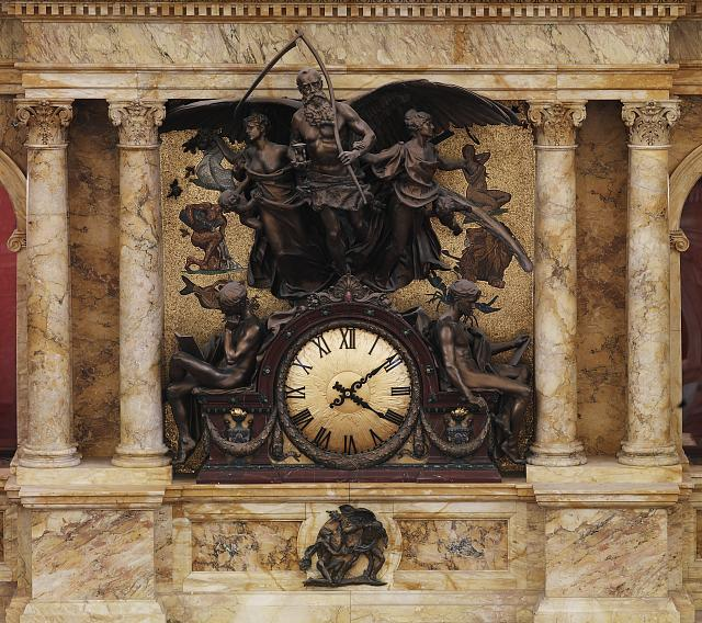 [Main Reading Room. The Rotunda Clock by John Flanagan. Library of Congress Thomas Jefferson Building, Washington, D.C.]